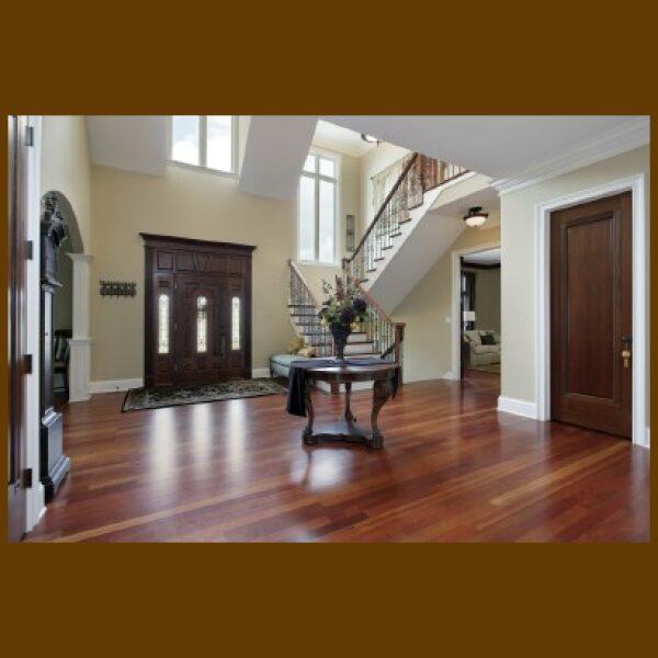 Brazilian Cherry (Premium Grade) Hardwood Flooring in main entryway of the home / Foyer / Vestibule