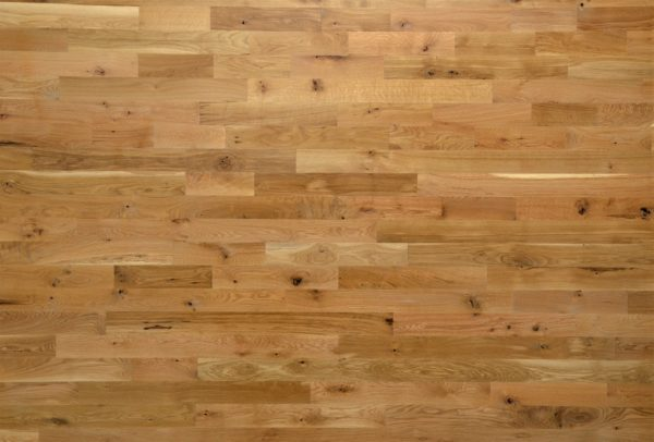 A Racked out Bundle of White Oak #2 Common Unfinished Solid Hardwood Flooring