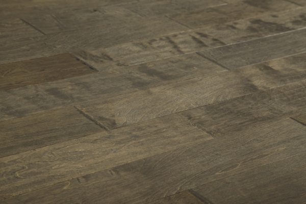 "Birch Prefinished Engineered Hand Scraped ""Brown Forest"" Hardwood Flooring"