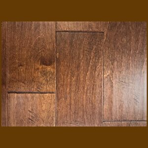 "Birch Prefinished Engineered Hand Scraped ""Cayenne"" Hardwood Flooring"