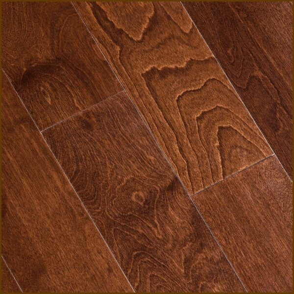 "Birch Prefinished Engineered Hand Scraped ""Toast"" Hardwood Flooring"