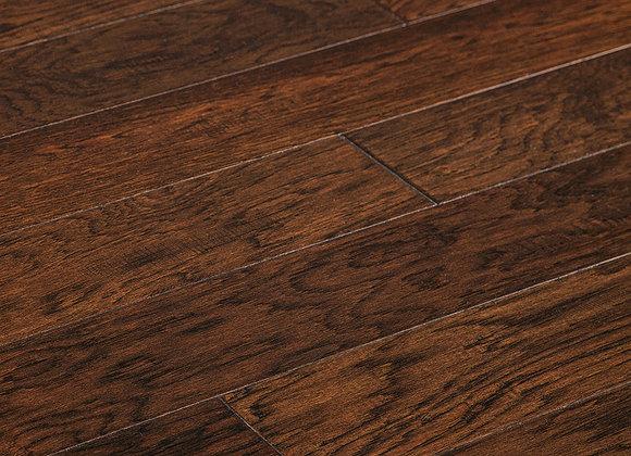 "Hickory Prefinished Engineered Hand Scraped ""Patina"" Hardwood Flooring"
