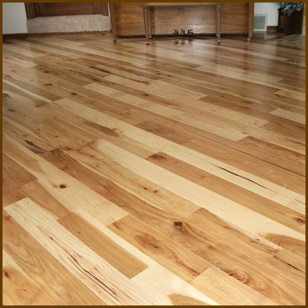 Hickory #1 Common Grade Unfinished Solid Hardwood Flooring