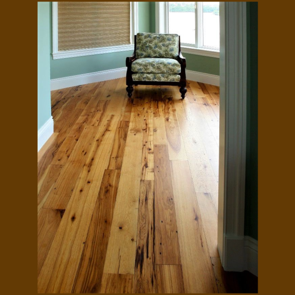 Hickory #2 Common Grade Unfinished Solid Hardwood Flooring