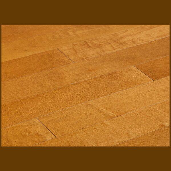 """Maple Prefinished Engineered Smooth """"Auburn"""" Hardwood Flooring"""