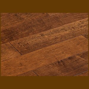 "Maple Prefinished Engineered Hand Scraped ""Saddle"" Hardwood Flooring"