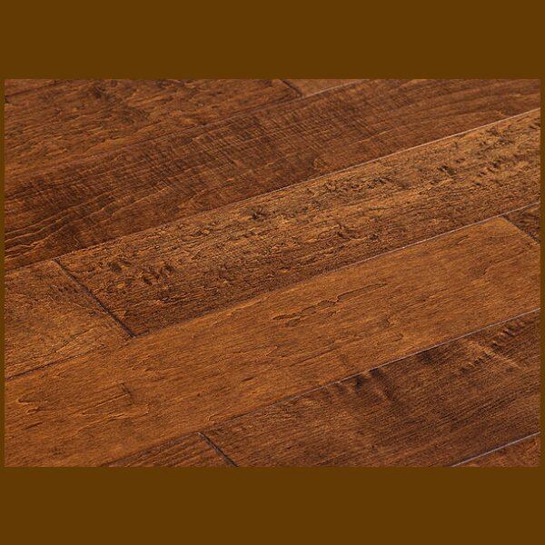 """Maple Prefinished Engineered Hand Scraped """"Saddle"""" Hardwood Flooring"""