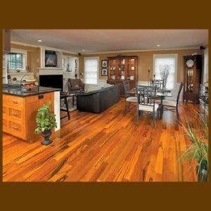 Tigerwood Premium Grade Unfinished Solid Hardwood Flooring