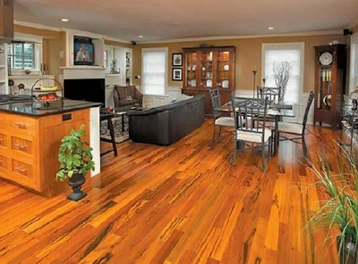 Tigerwood Premium Grade Prefinished Solid Hardwood Flooring